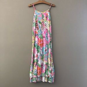 Lilly Pulitzer Target Nosey Posey Maxi Dress 7 8